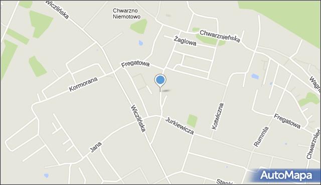 Gdynia, Pokładowa, mapa Gdyni