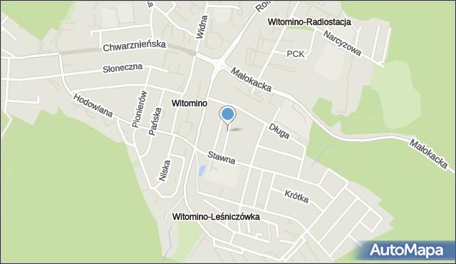 Gdynia, Poprzeczna, mapa Gdyni