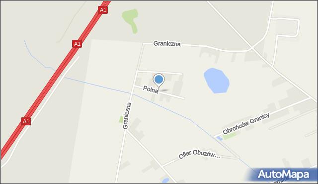 Gierałtowice powiat gliwicki, Polna, mapa Gierałtowice powiat gliwicki