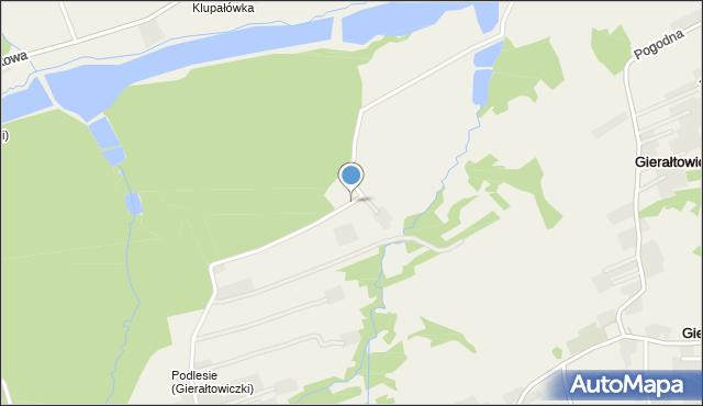 Gierałtowiczki, Pod Lasem, mapa Gierałtowiczki