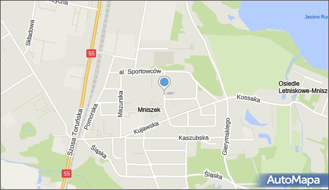 Grudziądz, Podhalańska, mapa Grudziądza