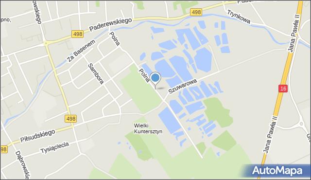 Grudziądz, Polna, mapa Grudziądza
