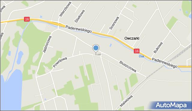 Grudziądz, Powojowa, mapa Grudziądza