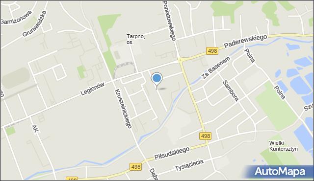 Grudziądz, Powstańców Wielkopolskich, mapa Grudziądza