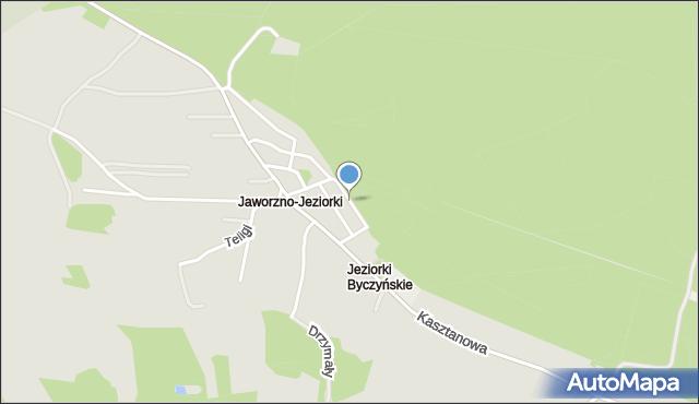 Jaworzno, Podlaska, mapa Jaworzno