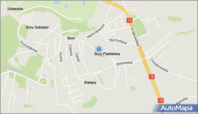 Jaworzno, Pola Wincentego, mapa Jaworzno