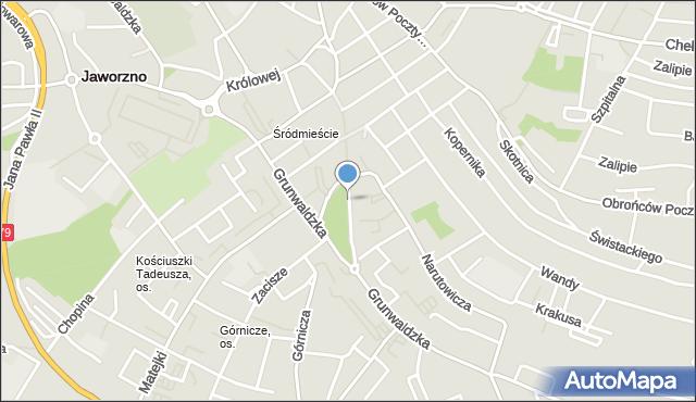 Jaworzno, Pocztowa, mapa Jaworzno