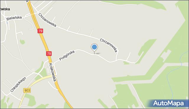 Jaworzno, Podgórska, mapa Jaworzno