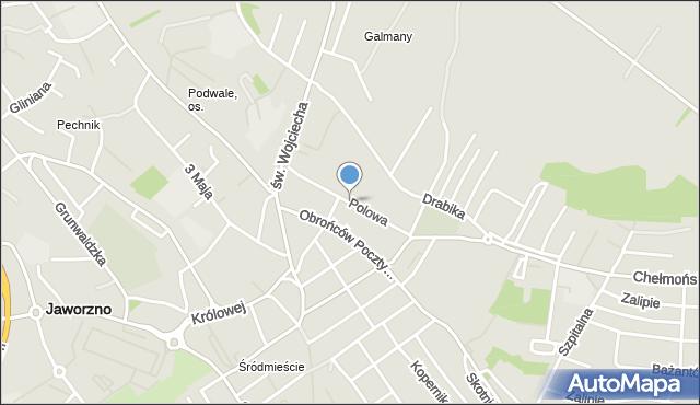 Jaworzno, Polowa, mapa Jaworzno