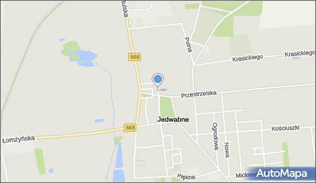 Jedwabne, Poświętna, mapa Jedwabne