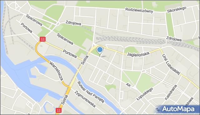 Kołobrzeg, Pomorska, mapa Kołobrzegu