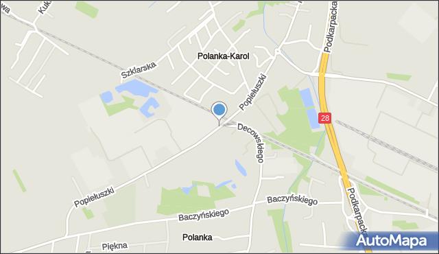 Krosno, Popiełuszki Jerzego, bł. ks., mapa Krosna