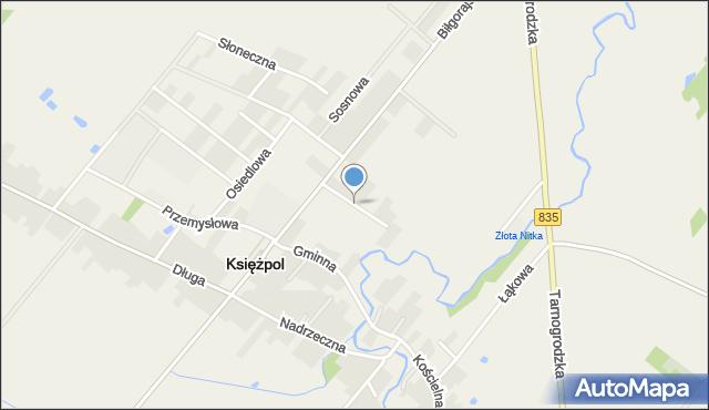 Księżpol, Polna, mapa Księżpol