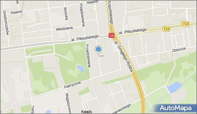 Łódź, Popowskiego Stanisława, mapa Łodzi