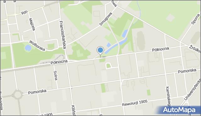 Łódź, Północna, mapa Łodzi