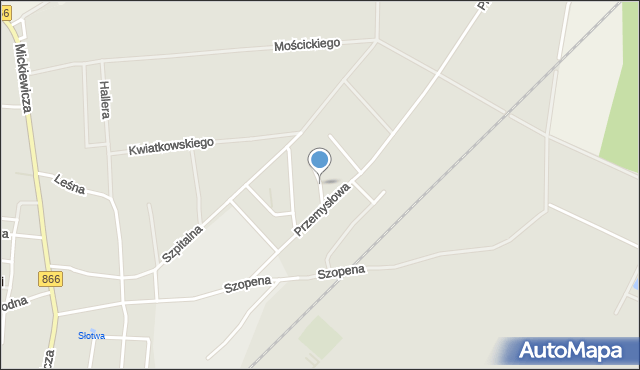 Lubaczów, Pod Borem, mapa Lubaczów