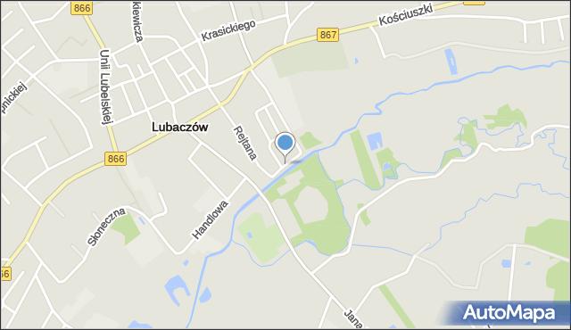 Lubaczów, Podzamcze, mapa Lubaczów