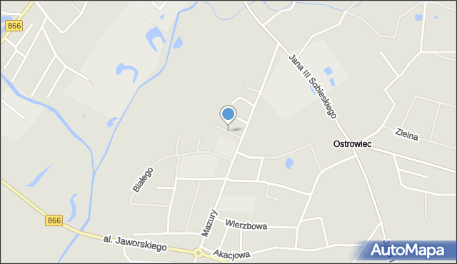 Lubaczów, Poziomkowa, mapa Lubaczów