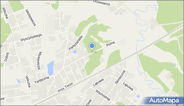 Luzino, Polna, mapa Luzino