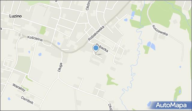 Luzino, Pomorska, mapa Luzino