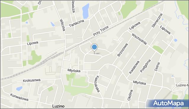 Luzino, Poprzeczna, mapa Luzino