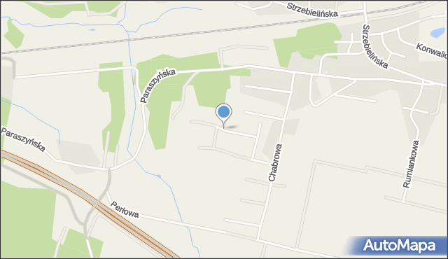 Luzino, Poziomkowa, mapa Luzino