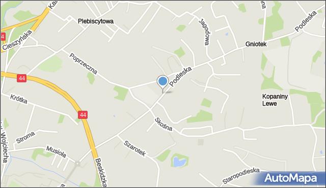 Mikołów, Podleska, mapa Mikołów