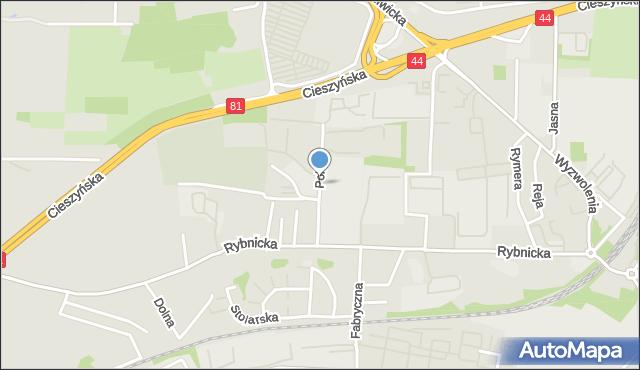 Mikołów, Pokoju, mapa Mikołów