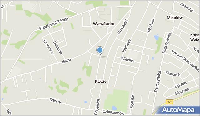 Mikołów, Południowa, mapa Mikołów