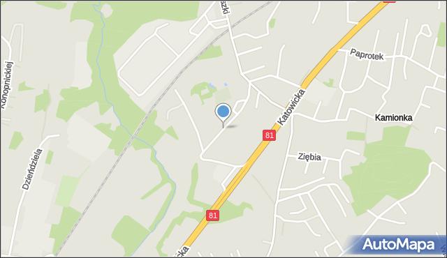 Mikołów, Porazińskiej Janiny, mapa Mikołów