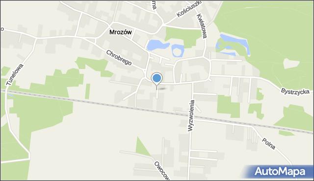 Mrozów, Pocztowa, mapa Mrozów