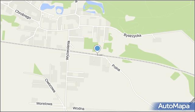 Mrozów, Polna, mapa Mrozów
