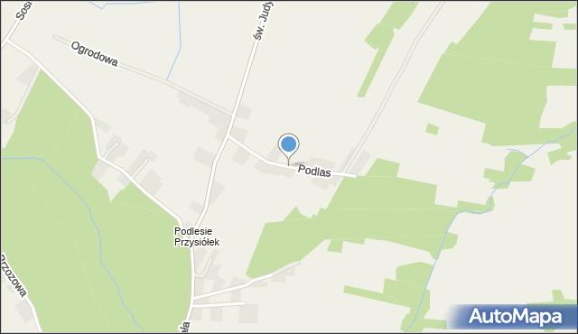 Nidek, Podlas, mapa Nidek