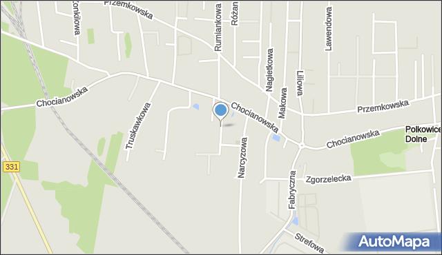 Polkowice, Poziomkowa, mapa Polkowice