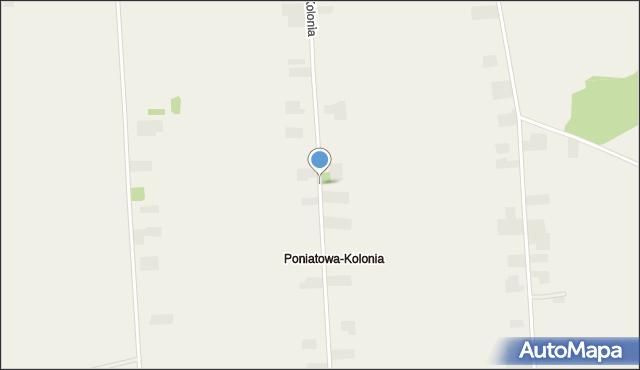Poniatowa-Kolonia, Poniatowa-Kolonia, mapa Poniatowa-Kolonia