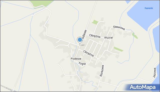 Przeciszów, Podlesie, mapa Przeciszów