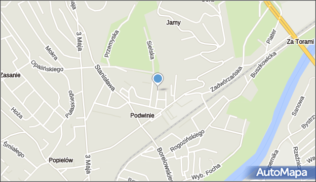 Przemyśl, Podgórska, mapa Przemyśla