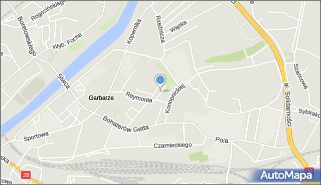 Przemyśl, Podhalańczyków, mapa Przemyśla