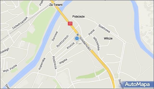 Przemyśl, Polna, mapa Przemyśla