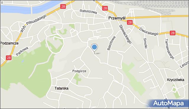 Przemyśl, Popiełuszki Jerzego, bł. ks., mapa Przemyśla