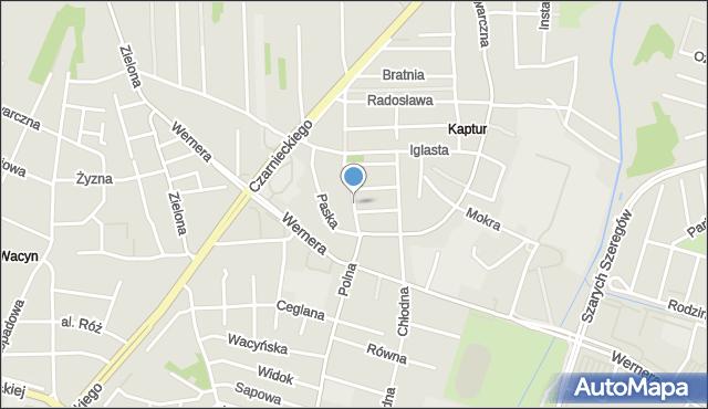 Radom, Polna, mapa Radomia