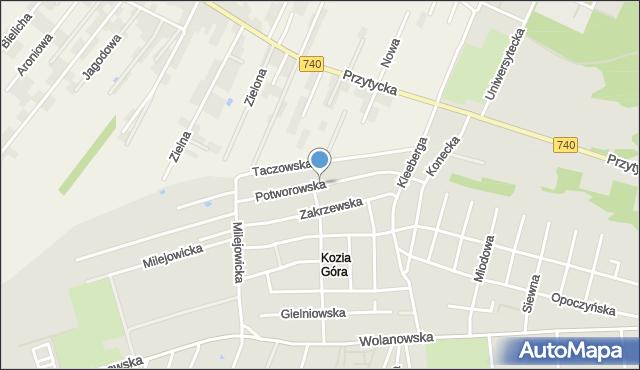 Radom, Potworowska, mapa Radomia