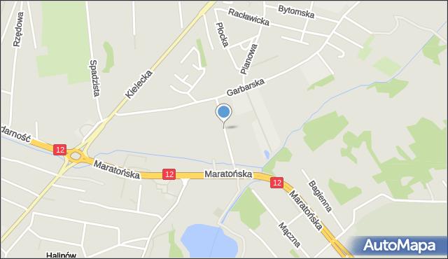Radom, Podhalańska, mapa Radomia