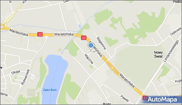 Radom, Podmokła, mapa Radomia