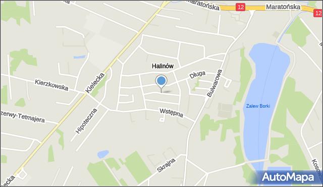 Radom, Poselska, mapa Radomia