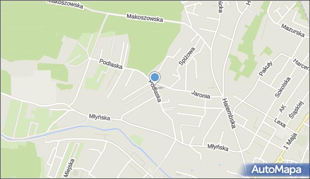 Ruda Śląska, Podlaska, mapa Rudy Śląskiej
