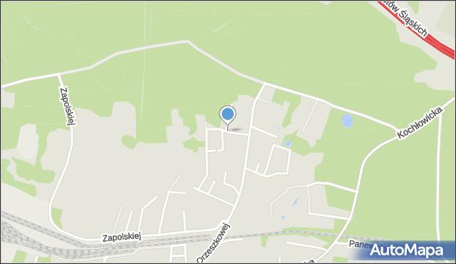 Ruda Śląska, Poświatowskiej Haliny, mapa Rudy Śląskiej