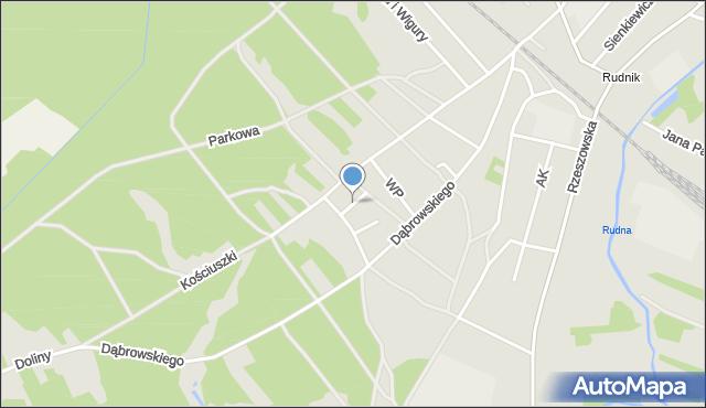Rudnik nad Sanem, Powstańców Styczniowych, mapa Rudnik nad Sanem
