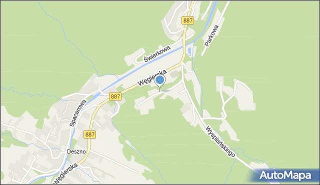 Rymanów-Zdrój, Potockich Anny i Jana, mapa Rymanów-Zdrój