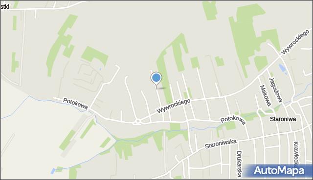 Rzeszów, Porzeczkowa, mapa Rzeszów